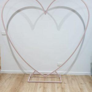 hearts dusty pink