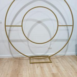 halo gold hoop